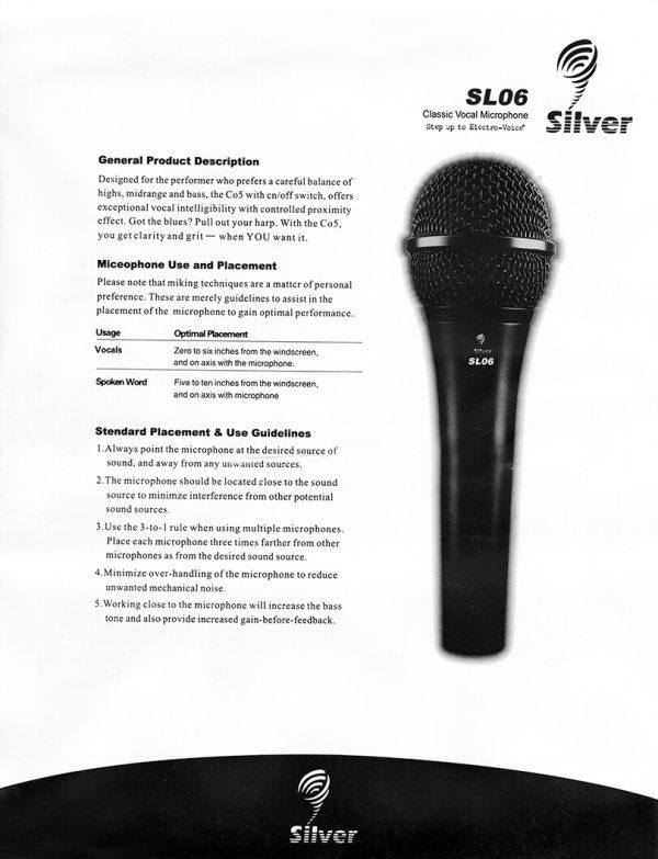 میکروفن داینامیک سلیور Silver sl06